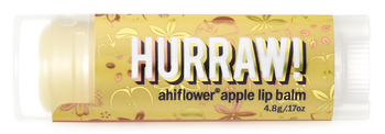 HURRAW! Lip Balm Ahiflower Apple, 4.8 gr