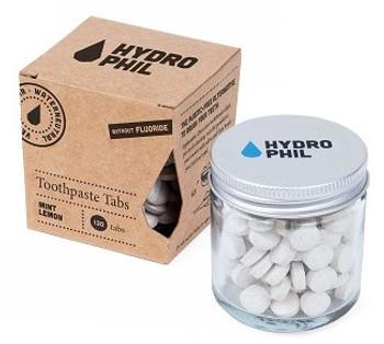 HYDROPHIL Tannkremtabletter u/fluor m/mint og sitron, 130stk