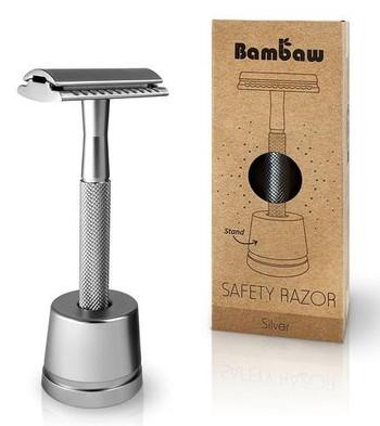 Bambaw Barberhøvel med fot, sølv