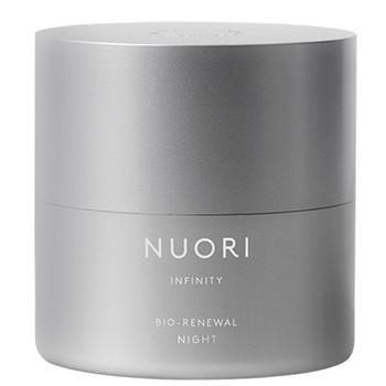 NUORI Infinity Bio-Renewal Night er en beroligende, naturlig nattkrem som reduserer synligheten av fine linjer, rynker, store porer og ujevn hudtone.