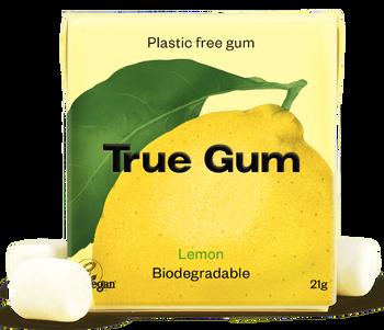 TRUE GUM Sitron-Plastfri Tyggis, 21g