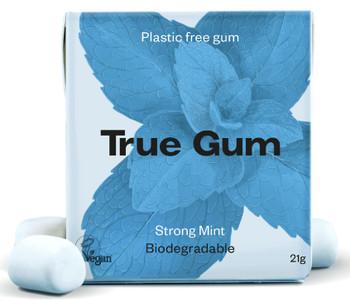 TRUE GUM Sterk Mint - Plastfri Tyggis, 21g