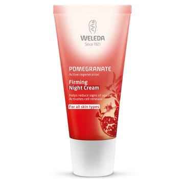 Weleda Pomegranate Firming Night Cream med antioksidant - beskytter mot frie radikaler, reduserer rynker og strammer opp huden.