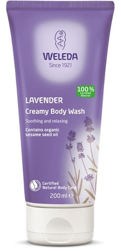 Weleda Creamy Body Wash Lavendel, 200 ml