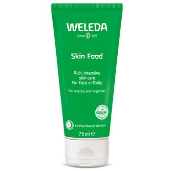 Weleda Skin Food er en naturlig og næringsrik allround krem som gjør huden nydelig myk og smidig. Den pleiende kremen inneholder økologiske planteekstrakter av stemorsblomst, kamille og calendula (ringblomst). Kremen kan brukes av alle og anbefales spesielt til ømfintlig og tørr hud.