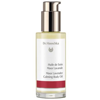 """Dr. Hauschka Moor Lavender Calming Body Oil kaller denne kroppsoljen for """"Your personal body guard"""". Med de mener de at dette er en lun, varm og beskyttende aromaterapeutisk olje som er spesielt fint om du føler deg stresset eller trenger en god natts søvn."""