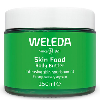 Weleda Skin Food Body Butter er et naturlig og kremaktig body butter som mykgjør og fukter huden.