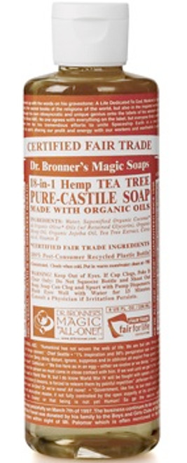 Dr. Bronner's Flytende Såpe Tea Tree, 236 ml