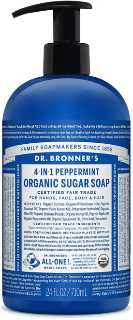 Dr. Bronner's Shikakai Sugar Soap Spearmint Peppermint, 355 ml
