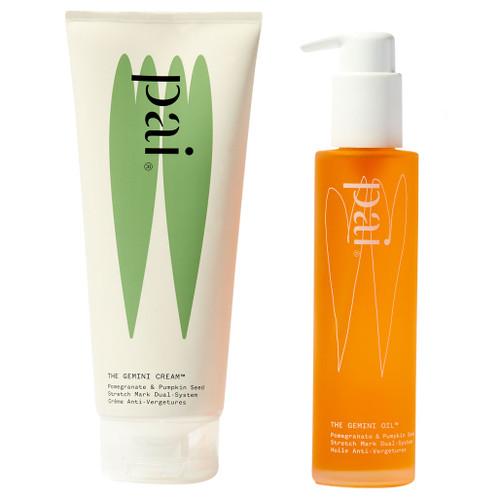 Pai The Gemini, strekkmerkesystemer et tjuefiretimers tostegssystem med hudkrem og olje som beskytter huden mot strekkmerker.