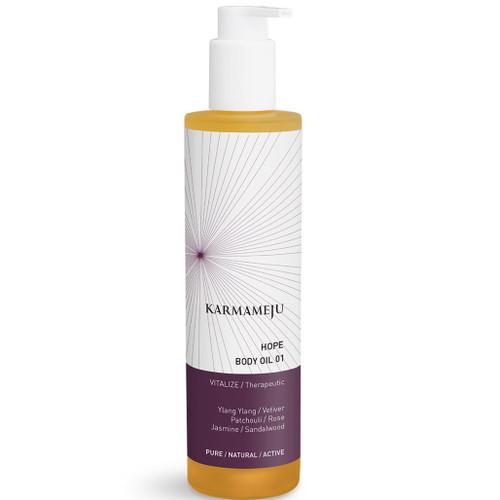 Karameju Hope Body Oil naturlig og vegansk kroppsolje oppløftende blomsterduft aromaterapi