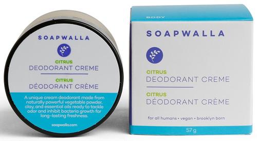 Soapwalla Naturlig Deodorant Cream m/sitrus, 57gr