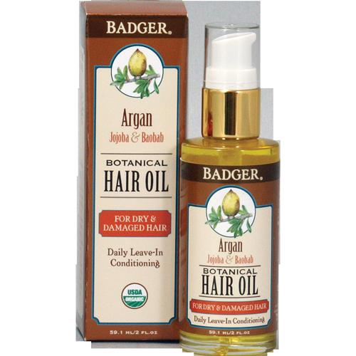 Badger Argan Hårolje skadet hår, 59 ml
