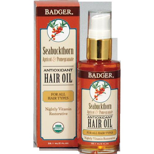 Badger SeaBuckthorn Hårolje for alle hårtyper, 59 ml