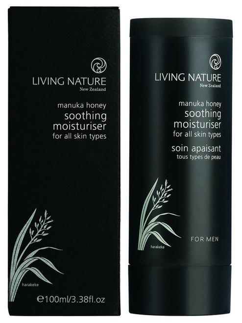 Living Nature Soothing Moisturiser - for menn, 100 ml