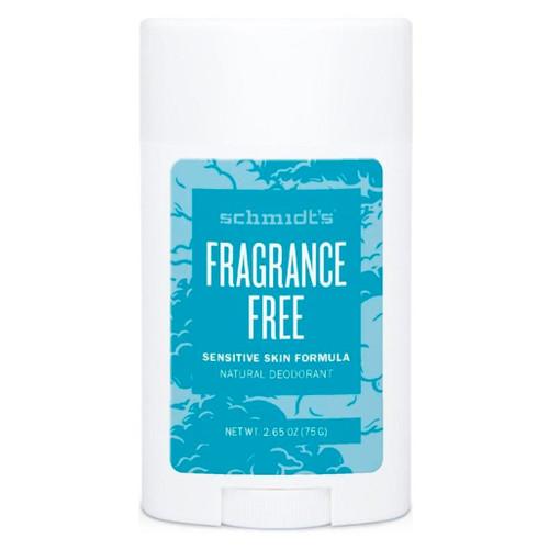 Schmidts Naturlig Deodorant Stick-Fragrance Free deodorant for sensitiv hud uten aluminium og er helt duftfri. Uten essensielle oljer, uten parfyme. Naturlige og veganske ingredienser. Helt uten natron.