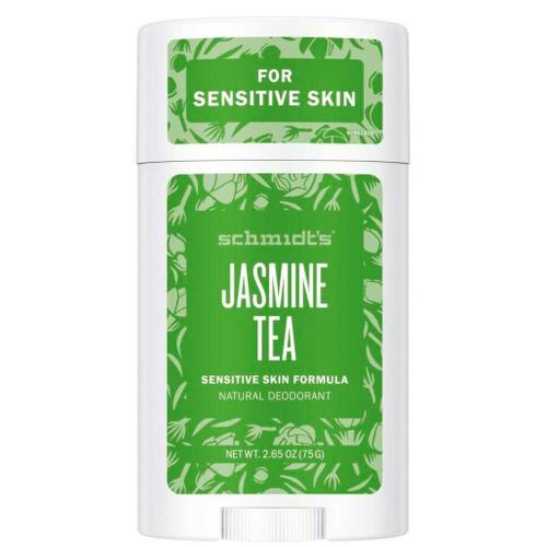 Schmidts Naturlig Deodorant Stick-Jasmine & Tea en naturlig og vegansk deodorant uten aluminium for sensitiv hud.