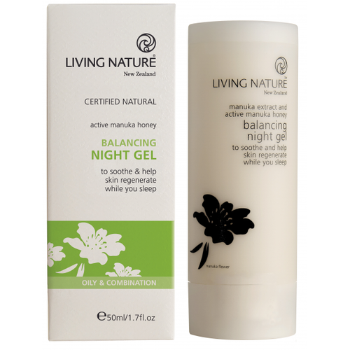 Living Nature Balancing Night Gel, 50 ml