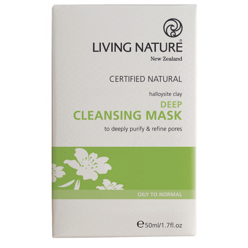 Living Nature Deep Cleansing Clay Mask, 50 ml