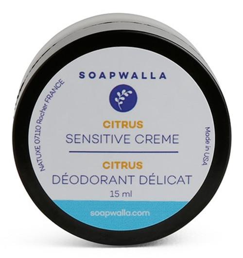 Soapwalla Deodorant Sensitive m/citrus, 15 ml