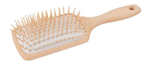 Redecker Naturlig hårbørste av tre, rektangulær m/trebust stor