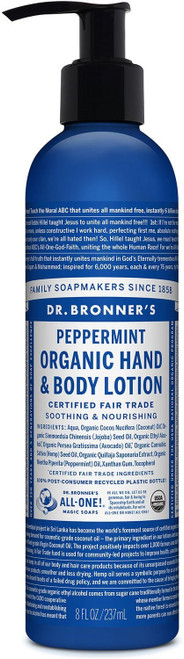 Dr. Bronner's Body Lotion Peppermynte, 237 ml