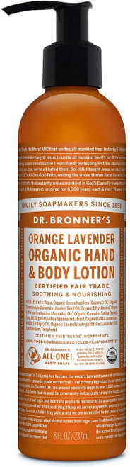 Dr. Bronner's Body Lotion Orange Lavender, 237 ml