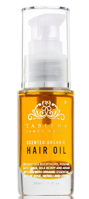 Tabitha Scented Organic Hair Oil Amber Rose 30ml