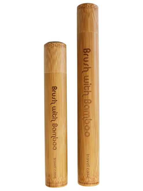 Brush with Bamboo tannbørsteetui av bambus til voksne