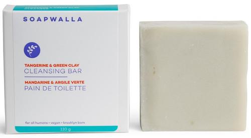 Soapwalla Shea Butter, Tangerine & Clay Soap Bar, 110 gr