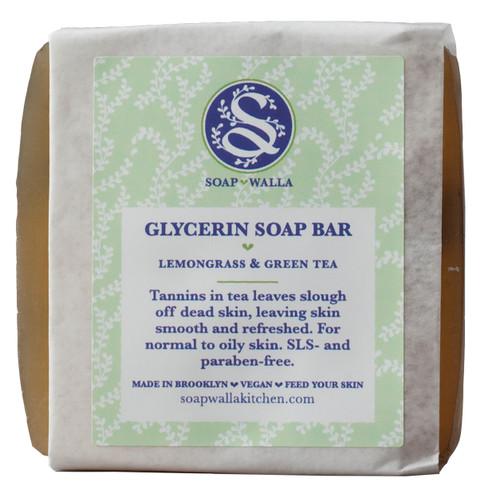 Soapwalla Lemongrass & Green Tea Soap Bar, 110 gr