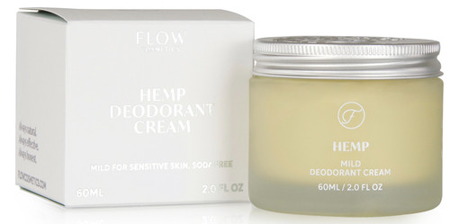 FLOW Hemp Deodorant Cream, 60ml