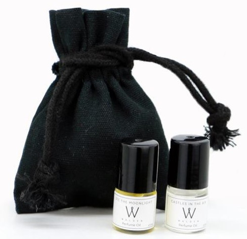 Walden Perfume Sample set 7x 2ml, Rollerballs pouch