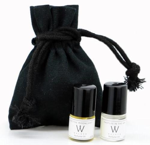 Walden Perfume Sample set 7x 2ml, Rollerballs pouch
