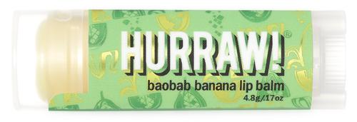 HURRAW! Lip Balm Baobab Banana, 4.8 gr