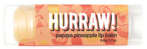 HURRAW! Lip Balm Papaya Pineapple, 4.3 gr