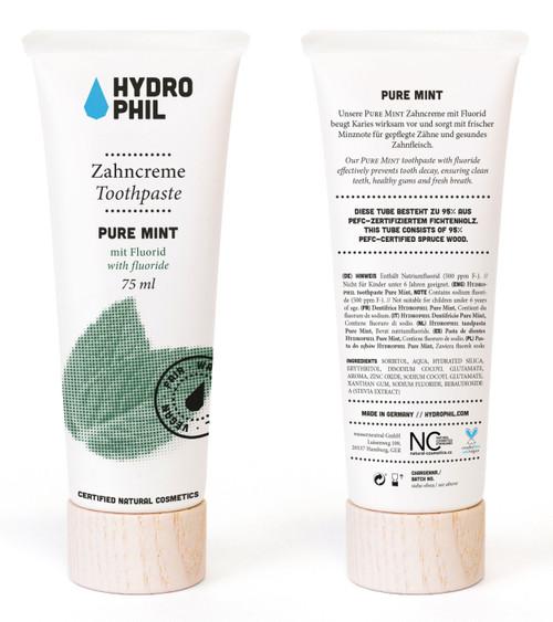 HYDROPHIL Pure Mint Tannkrem m/ fluor, 75 ml