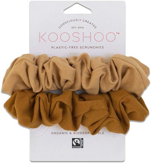 Kooshoo Scrunchies Hårstrikk uten plast, Gold Sand