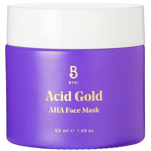 BYBI Beauty Acid Gold Face Mask en vegansk ansiktsmaske med enzymer og AHA syrer. Den er spesielt egnet for tørr, blass, livløs, ujevn og uren hud.