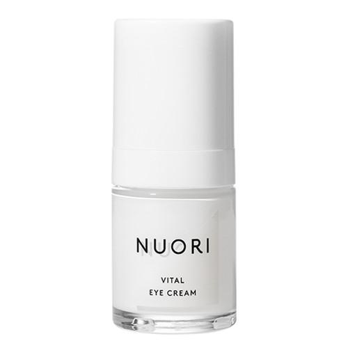 NUORI Vital Eye Cream er en naturlig dagkrem med hyaluronsyre, C-vitamin og sheasmør om bidrar til å redusere de første aldringstegnene.