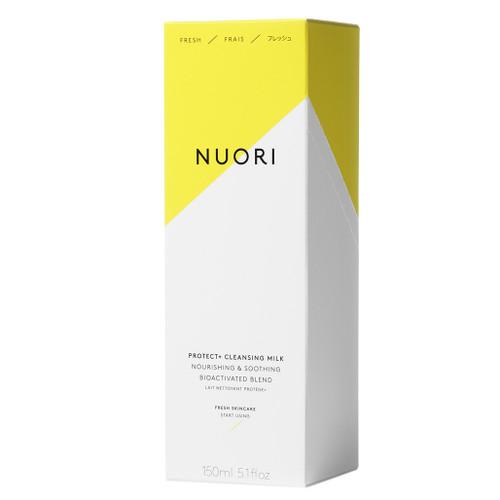 NUORI Protect+ Cleansing Milk er en nydelig, naturlig ansiktsrens. Eske.