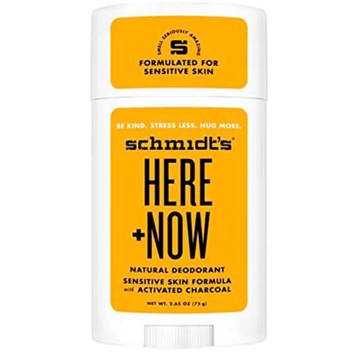 Schmidts Naturlig Deodorant Stick-Here & Now vegansk deodorant med naturlige ingredienser. Helt uten aluminium. Laget i samarbeid med Justin Biber.