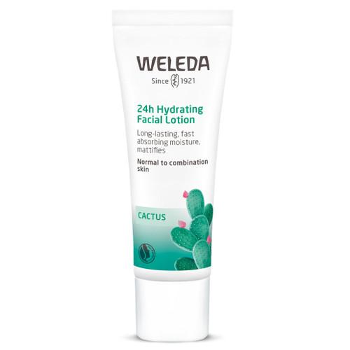 Weleda Cactus 24h Hydrating Facial Lotion er som et glass vann for en hud som trenger fuktighet. Perfekt for normal/ kombinasjonshud som trenger direkte fuktighet.