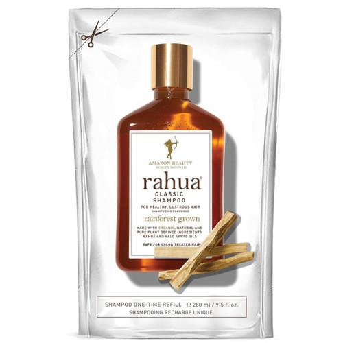 Refill til Rahua Classic Sjampo. Dette produktet kommer i en påfyllingspose Gjenoppbyggende økologisk sjampo som skånsomt renser håret og gjør det sunt, skinnende og friskt. Passer for alle hårtyper, også for farget og skadet hår.