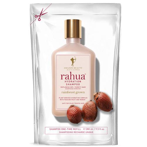 Refill til Rahua Hydration sjampo. Dette produktet kommer i en påfyllingsposetil å fylle opp flasken du har fra før.