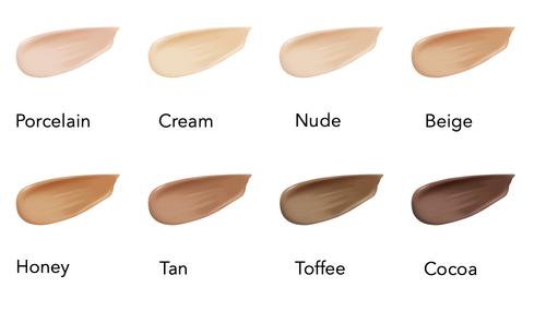 Finn din farge på flytende foundation fra INIKA