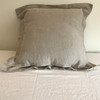"Natural Oatmeal Euro Shams with 2"" flange"