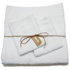 "100% linen sheet set-White Queen 9"" King Cases"