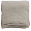 Natural Oatmeal Duvet Cover from real linen. American Made by Linoto