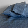 indigo linen pillowcases
